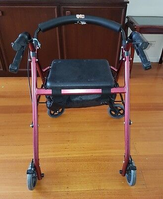 Foldable Mobility Walker / Rollator with a seat and basket