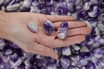 1/2 Pound Tumbled Banded Amethyst - 'AA' Grade - Wire Wrapping, Reiki, Wicca