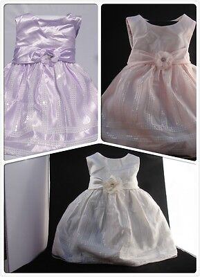 Elegant New Baby Girl Infant Dress Wedding Party Size 12 Month 00, 0 Christening