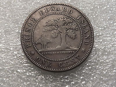1871 Canada --Prince Edward Island--One Cent-With Die Rotation