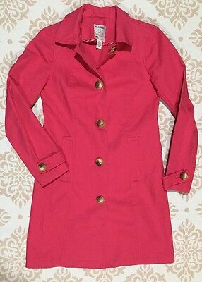 Old Navy Long Cotton Blazer Pink Button Down Collar Coat Size XS