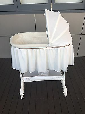 Fisher Price My Lil Lamb Baby Bassinet Cradle With Portable Insert