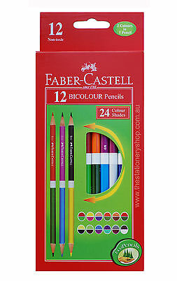 Faber-Castell Bicolour Pencils-Pack of 12