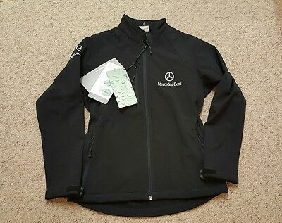 Ladies Mercedes-Benz Soft Shell Black Jacket size Large 12 - 14 BNWT