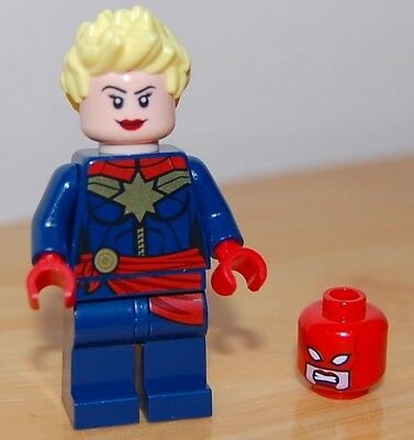 Lego Genuine Captain Marvel Minifigure Minifig from 76049 Avenjet Space Mission
