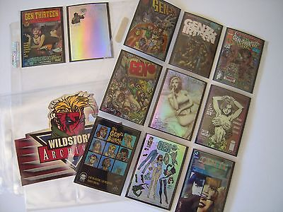 Wildstorm Archives  1 1995 Set Complet  11 Bonus G Holochrome  Rares Tbe