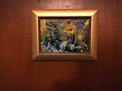 Original Framed Photograph, Daffodils, Wattle, Spring Flowers, Gold Wooden Frame