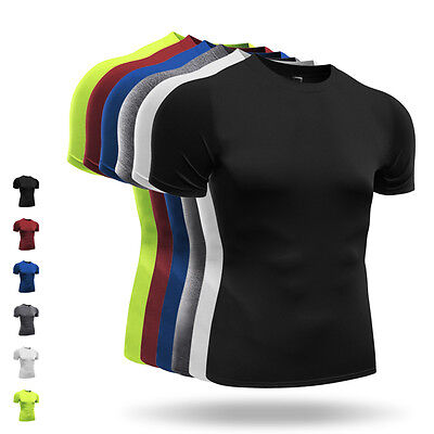Seamless Men Solid Shorts Sleeve  Quick-drying Breathable Camping Sports T-Shirt