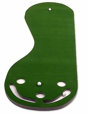 Practice Putting Green Golf Indoor Mat Training Aid 3 Cups Home Office Outdoor