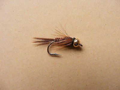 Pack Of 4 Gold Bead Head Pheasant Tail Nymph . Size 10 ,12, 14