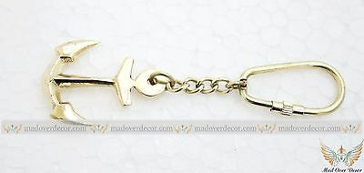Beautiful Brass Ship Anchor Key chain old style antique marine Nautical Xmas