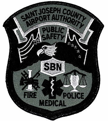 ST JOSEPH COUNTY AIRPORT AUTHORITY - SWAT - SOUTH BEND INDIANA IN Police Patch ~