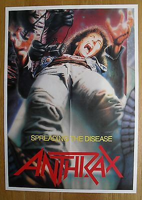 ANTHRAX spreading the disease vintage poster  metal