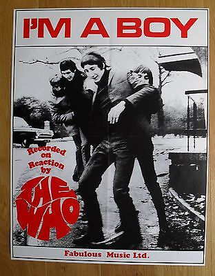 THE WHO  i'm a boy  vintage poster