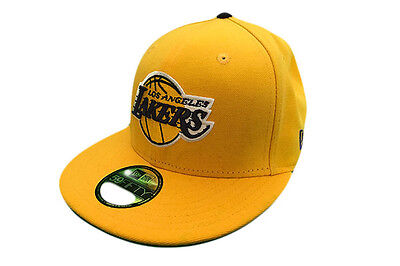 Los Angeles Lakers Yellow NBA 59FIFTY New Era Fitted Baseball Cap