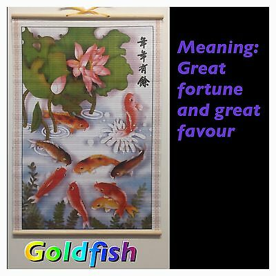Paper Cane Wall Painting Art Scrolls (Goldfish)