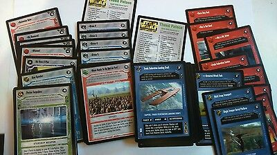 Star Wars CCG - Theed Palace common and uncommon set - with cardlists