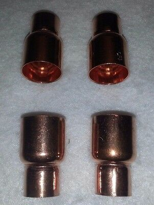 "3/4"" x 1/2"" Copper Reducer Coupling C x C. Solder Sweat Pressure. New. Lot of 4"