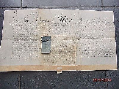 """""""1756"""" VELLUM WILL & PROBATE (2 Docs) of JOHN PRAUL of BRENCHLEY in KENT."""