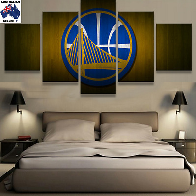 Golden State Warriors Modern Canvas Wall Art Picture Landscape (5piece)