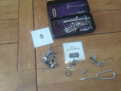 Singer Sewing Machine Attachments Metal Box Vintage Tin