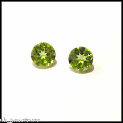 Peridot Genuine Natural Gemstone, Round 5.8mm, 0.86ct  Single Stone.