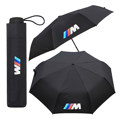 New BMW M Sport Umbrella Car Black Folding Large Quality Brolly Gift Winter