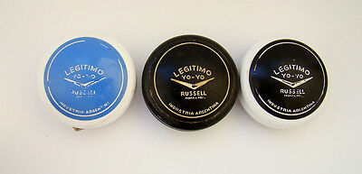 #B -3X LOT- RARE RUSSELL Yo-Yo ARGENTINA * Vintage Collection Rusell russel Yoyo