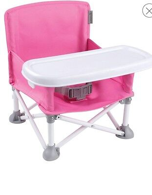 Summer Infant Pop N' Sit Portable Booster Seat chair New Light easy carry PINK