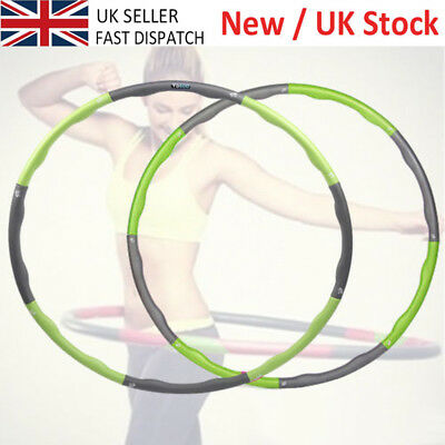 1.2kg/100CM Weighted Hula Hoop Foam Padded Body Massage ABS Workout Fitness Pink