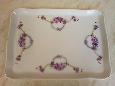 Pretty Dressing table Tray....violets design...good condition