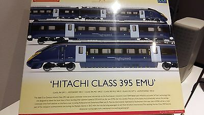 Hornby Train Pack 00 Scale Hitachi Class 395 Emu - Absolutely New