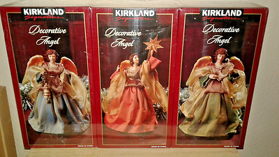 NIB 3-Pack Decorative Angels Angel Kirkland Signature Christmas Decoration