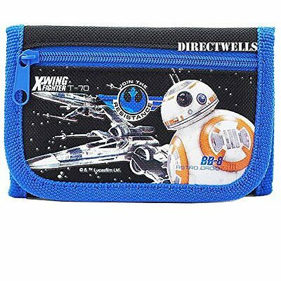 Disney Star Wars Robot Character Authentic Licensed Trifold Wallet Black