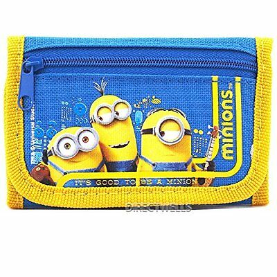 Despicable Me Minions Good Quality Children Blue Trifold Wallet 1 WALLET