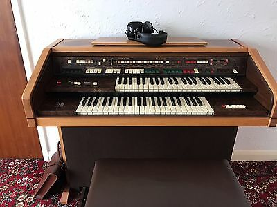 Farfisa Partner 16 Electric Organ with stool