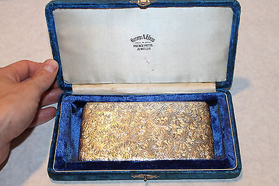 Antique Hand Chased 950 Sterling Silver Cigarette Case G A Efron Palace Hotel