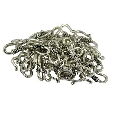 Lot Of 50pcs Antique Silver S Hook Clasp Jewelry Making Findings 21 x 14 mm
