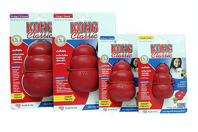 KONG Classic Dog Durable Rubber Chew Toy Red - Small Medium Large XL XXL