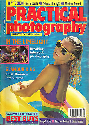 Vintage Practical Photography Magazine August 1990. Shooting Rock Music