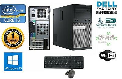Dell Gaming TOWER PC  i5 2500 Quad 3.3GHz 8GB  NEW 1TB HD & Win 10 HP 64 FX 380