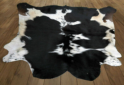 Western Natural Black & White (42'' X 44'' ) Leather Rug / Skin KCCH- 980