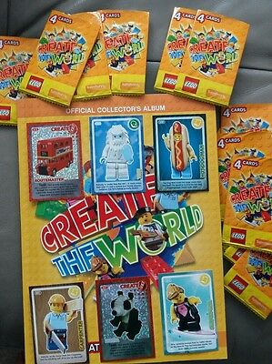 6 x Sainsbury's Lego 'Create the World' trading cards (choose your own)