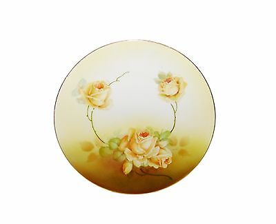 Antique Porcelain KAHLA Germany #3 Yellow Rose Bread/Salad Hand Painted Plate