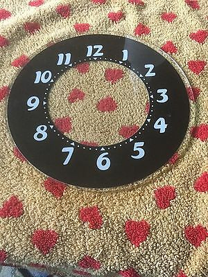 baby glo dial vintage electric neon clock large number face glass