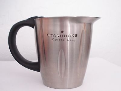 Starbucks Coffee Stainless Steel Milk Frother Jug Pitcher Cup Frothing Foam