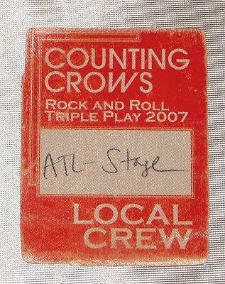 Counting Crowes 2007 Triple Play Tour Working Crew Satin Backstage Pass