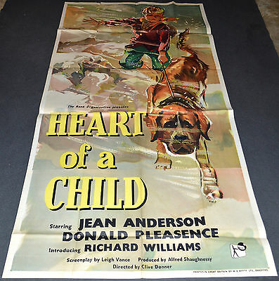 HEART OF A CHILD 1959 ORIG. BRITISH 40x79 3 SHEET MOVIE POSTER! DONALD PLEASANCE