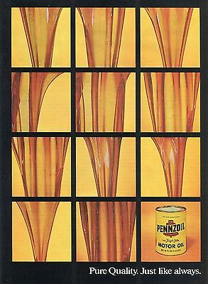1974 Pennzoil Tough Film Motor Oil Pure Quality Just Like Always Print Ad