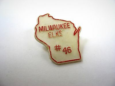 Vintage Collectible Pin: Milwaukee Elks #46